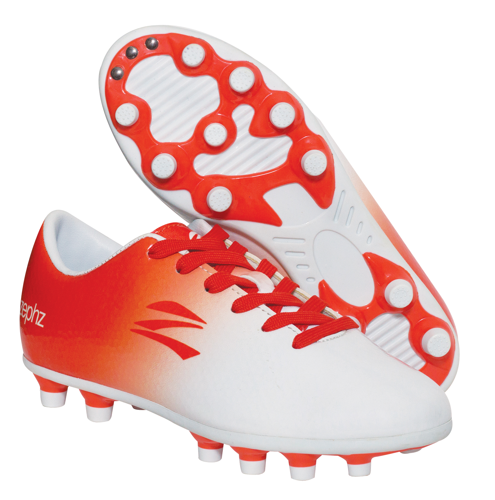 bfd57d09060 Wide Traxx Soccer White Red-Orange- Adult